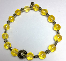 Handmade bracelet with citrin beads