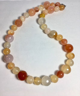 One of a kind handmade necklace with agate beads