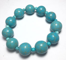 handmade bracelet with howlite Beads