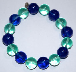 Handmade colored quartz bracelet