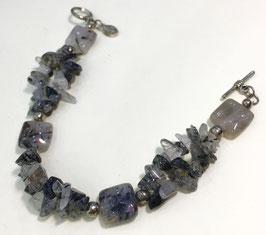 Handmade rutile quartz bracelet