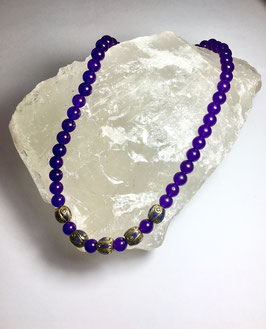 one of a kind handmade necklace with russian amethyst