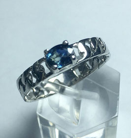 Ring with sapphire, 0,39 ct.