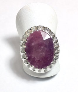 Ring with ruby 22,27 ct.
