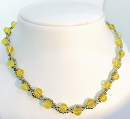 Handmade citrin necklace