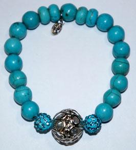 Handmade howlite bracelet