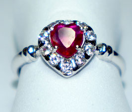 Ring   Ruby and CZ Diamonds