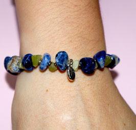 Handmade jasper and agate bracelet