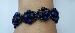Handmade bracelet with lapis lazuli beads