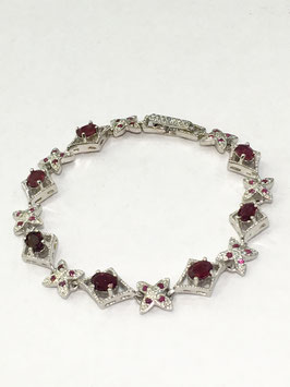 Bracelet with ruby, 5,19 ct.