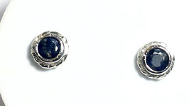 Studs with sapphires, 0,71 ct.