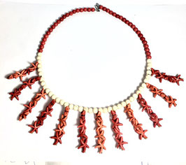 one of a kind handmade necklace with howlite beads