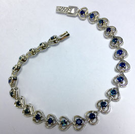 Bracelet with 24 blue sapphire