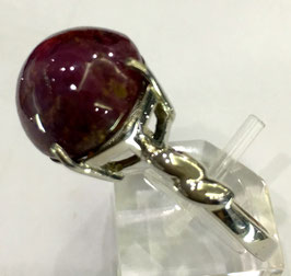 Ring with ruby cabochon, 17,34 ct.
