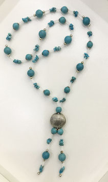 Handmade howlite necklace
