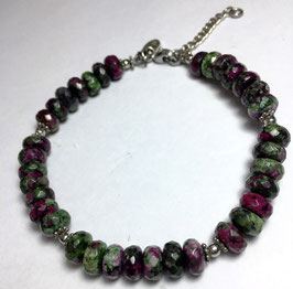 Handmade bracelet with rhodochrosite beads