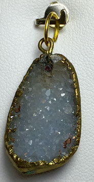 Agate druse pendant