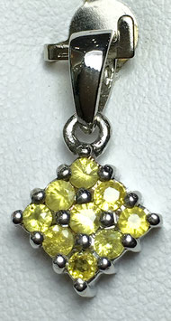 Pendant with fancy sapphires, 0,53 ct.