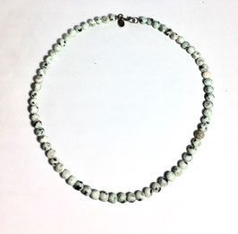 One of a kind handmade necklace with white jasper beads