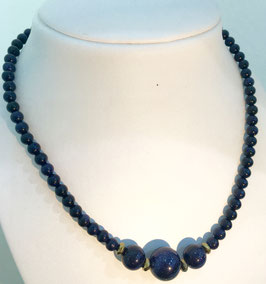 Handmade blue goldstone necklace