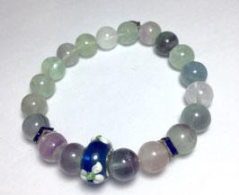 Handmade bracelet with fluorite beads
