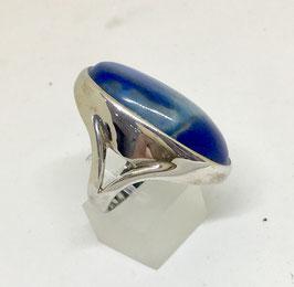Ring with lapis lazuli, 3,6 x 2 cm