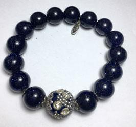 Handmade bracelet with blue silverstone