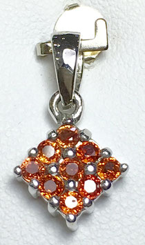 Pendant with fancy sapphires, 0,67 ct.