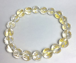 Handmade bracelet with  christal quartz beads