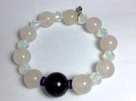 Handmade rose quartz bracelet
