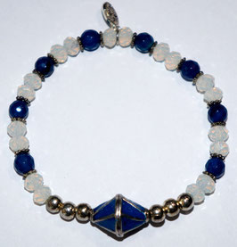 Handmade opal and agate bracelet