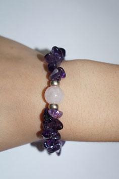 Handmade amethyst bracelet