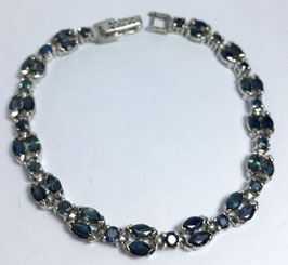 bracelet with 34 blue sapphires