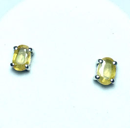 Studs  with yellow sapphires, 0,98 ct.