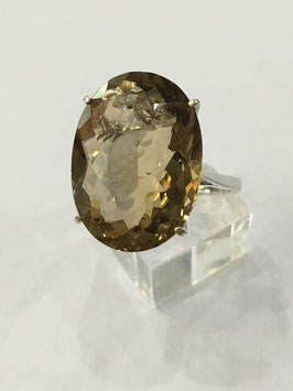 Ring with citrin, 15,68 ct.