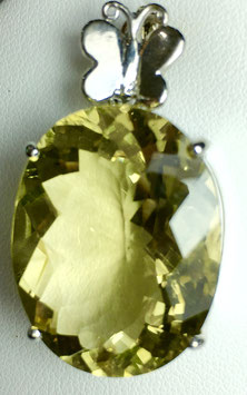Pendant with lemon quartz, 29,45 ct.
