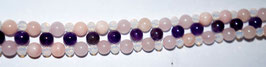 Handmade bracelet with rose quartz, amethyst and opal beads