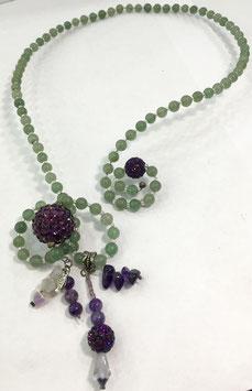 Aventurine und amethyst necklace