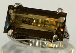 Ring with citrin, 5,43 ct.
