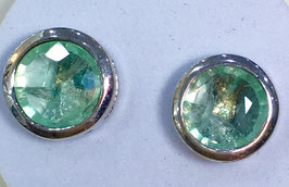 Studs with fluorite,