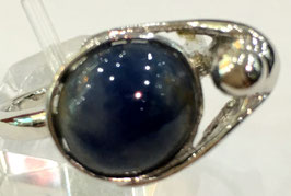 Ring with sapphire cabochon, 7,6 ct.