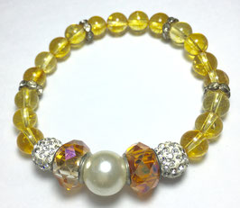 Handmade bracelet with citrine beads