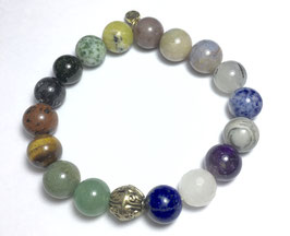 Handmade bracelet with different gemstone beads