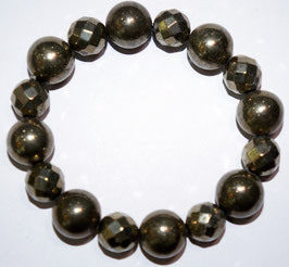 Handmade bracelet with pyrite beads