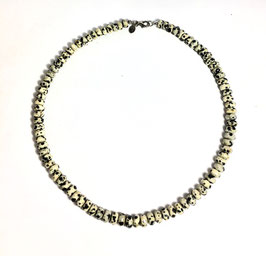 One of a kind handmade necklace with dalmatian jasper beads