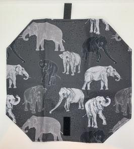 Jausenpocket Elefant dunkel