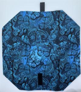 Jausenpocket Blume schwarz blau