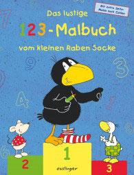 Das lustige 123-Malbuch vom kleinen Raben Socke