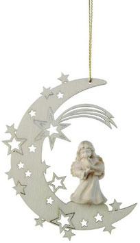 Weihnachten Mond mit Schnitzengel