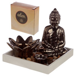 Eden Buddha & Lotus Kerze & Räucherstäbchen